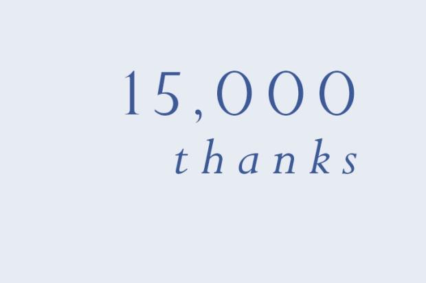 Danke für 15000 Hits